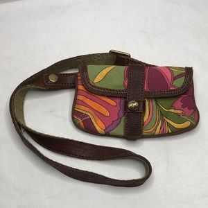 Lucky brand 4 x 7 psychedelic cross body bag EUC